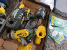 BOX OF BATTERY POWER TOOLS