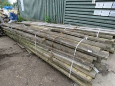 2 X LARGE BUNDLES OF PRE USED TIMBERS, HEAVY GUAGE