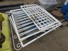 PAIR OF ORNATE IRON GATES TO SUIT 10FT OPENING APPROX. WITH ADDITIONAL SIDE GATE