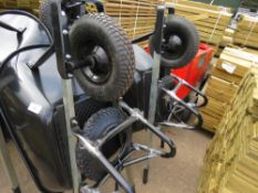2 X HEAVY DUTY BUILDER'S WHEEL BARROWS C/W SPARE TYRE