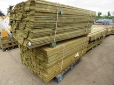 2 X PALLETS OF 1.65M AND 1.8MM LENGTH FEATHER EDGE TIMBER
