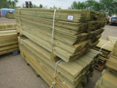 2X PACKS OF FEATHER EDGE TIMBER FENCE CLADDING, 1.8METRES LENGTH APPROX