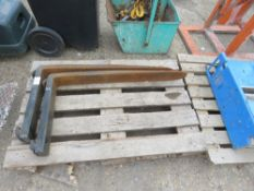 PAIR OF FORKLIFT TINES, UNTESTED