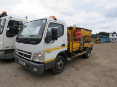 MITSUBISHI FUSO 7.5TONNE LORRY WITH HOT BOX FITTED, REG. BN11 EHY, WITH V5 AND TEST TO 31.08.2019.