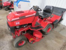 WESTWOOD T1400 RIDE ON MOWER C/W COLLECTOR. WHEN TESTED WAS SEEN TO DRIVE AND MOWER TURNED