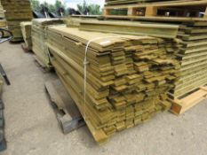 LARGE PACK OF MACHINED TIMBER FENCE CLADDING SLATS 1.75METRE LENGTH