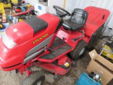 COUNTAX RIDE ON MOWER C/W COLLECTOR WHEN TESTED WAS SEEN TO RUN AND DRIVE AND MOWER TURNED