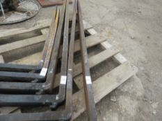 "PAIR OF 1.8m FORKLIFT TINES FOR 16"" CARRIAGE, UNTESTED"