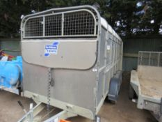 Ifor Williams 14ft triaxled livestock trailer year 2015 SN:SCKT00000F0665260