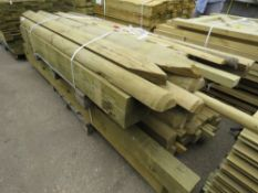 PALLET OF POSTS AND RAILS AND ASSORTED TIMBER