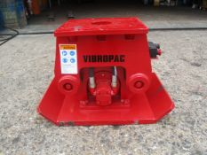 UNUSED YEAR 2019 VIBROPAC HC205 TRENCH COMPACTOR FOR MINI DIGGER. THIS ITEM IS NOT LOCATED AT THE