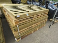 10 X ASSORTED TIMBER FENCE PANELS