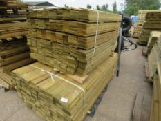 2 X PACKS OF FEATHER EDGE TIMBER CLADDING, 1.8M AND 1.2M LENGTH