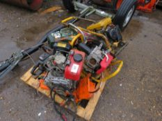 PALLET OF MACHINES/PARTS TO INCLUDE STIHL SAW, DIESEL ENGINE, PDU, COMPACTION PLATE ETC