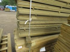 2 X LARGE PACKS OF 1.75M LENGTH MACHINED TIMBER CLADDING SLATS