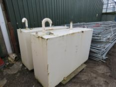 2 X STEEL DIESEL STORAGE TANKS
