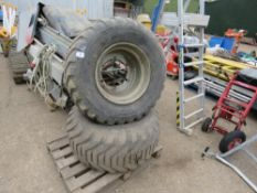 2 X 500/60-22.5 FLOATATION WHEELS & TYRES