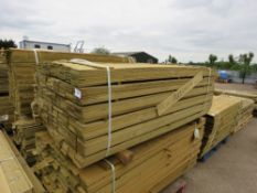 2 X PACKS OF PROFILED TIMBER CLADDING STRIPS 1.75METRES LENGTH APPROX