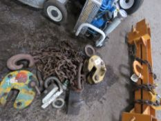 PLATE LIFTER, CHAINS AND CLAMPS, UNTESTED