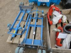 2NO. HEAVY DUTY MACHINE MOVING TROLLEYS