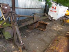 DAVID BROWN 3 POINT LINKAGE MOUNTED BACK ACTOR UNIT C/W 2 X BUCKETS