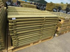 26 X FEATHER EDGE TIMBER FENCE PANELS 1.65M HEIGHT X 1.8M WIDTH
