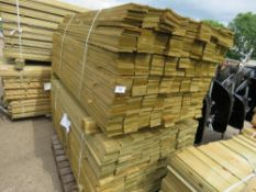 2 X PACKS OF FEATHER EDGE TIMBER CLADDING 1.65M LENGTH