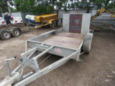 "BATESON 3500KG RATED HEAVY DUTY PLANT TRAILER, INTERNAL SIZE 5.5FT X 9FT 6"" APPROX"