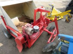 BOMFORD TOWED PETROL ENGINED BRUSH COLLECTOR C/W BRIGGS AND STRATTON ENGINE
