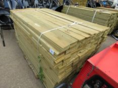 LARGE PACK OF FEATHER EDGE CLADDING TIMBER. 1.8METRE LENGTH