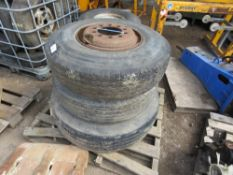3no. Commercial wheels and tyres
