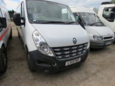 Renault Master LWB panel van, reg. LV13 FWY, 143,977 rec.miles, with V5 and test to 9.4.2020 WHEN