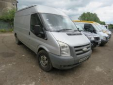 FORD TRANSIT 115T350 PANEL VAN, SILVER, REG:AJ56 WFO. TEST EXPIRED. SOLD WITH V5. WHEN TESTED WAS