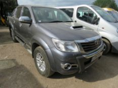 TOYOTA HILUX INVINCIBLE AUTO REG:LO14 XAC DIRECT EX LOCAL COMPANY SURPLUS TO REQUIREMENTS DUE TO