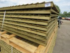 16 X FEATHER EDGE TIMBER FENCE PANELS 1.65M HEIGHT X 1.8M WIDTH