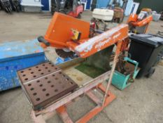 Clipper Honda engined slab sawbench