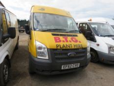 Ford Transit 125T350 fitter's van c/w racking and vice, reg. EF62 CVO, 144,693 rec.miles, test to