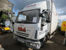 Iveco 75E17 Euro Cargo 7.5tonne box lorry with tail lift, reg. FJ05 WYG 308,575 REC KMS, WITH V5