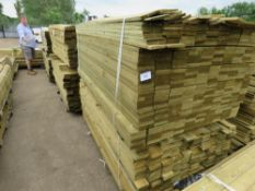 2X PACKS OF FEATHER EDGE TIMBER FENCE CLADDING, 1.8 AND 1.75 METRES LENGTH APPROX