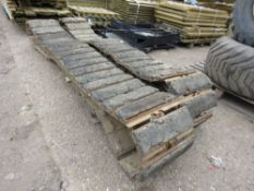 PAIR OF HITACHI ZX85 STEEL TRACKS C/W BLOCK PADS...REMOVED TO REPLACE WITH RUBBER TRACKS