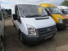 FORD TRANSIT 100T260, REG: FN62 HSL, WITH V5 AND TEST TO 31.8.2019, 102,410 REC MILES WHEN TESTED
