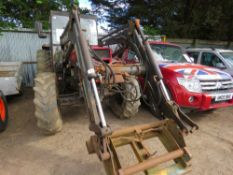 Case 885 4wd tractor c/w loader REG:F893 VRL LOG BOOK TO APPLY FOR WHEN TESTED WAS SEEN TO RUN,