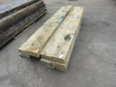 12 X TIMBER SLEEPERS