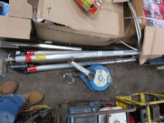MANHOLE RECOVERY TRIPOD AND WINCH, UNTESTED