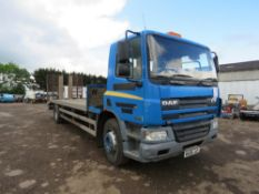 DAF CF 65.250 4x2 BEAVERTAIL PLANT LORRY REG:WA06 JJY, WITH V5 WHEN TESTED WAS SEEN TO DRIVE,