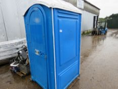 PORTABLE SITE TOILET C/W SINK & MIRROR. WHEN TESTED WAS SEEN TO FLUSH AND SINK WORKED