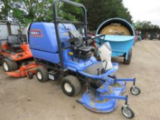 ISEKI SFH240 RIDE ON MOWER, YEAR 2014 BUILD, WITH REAR HIGH DISCHARGE COLLECTOR, 1062 REC ORDED
