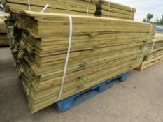 PACK OF FEATHER EDGE FENCING SLATS 1.8METRES LENGTH