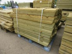 PALLET OF 1.2M LENGTH FEATHER EDGE TIMBER