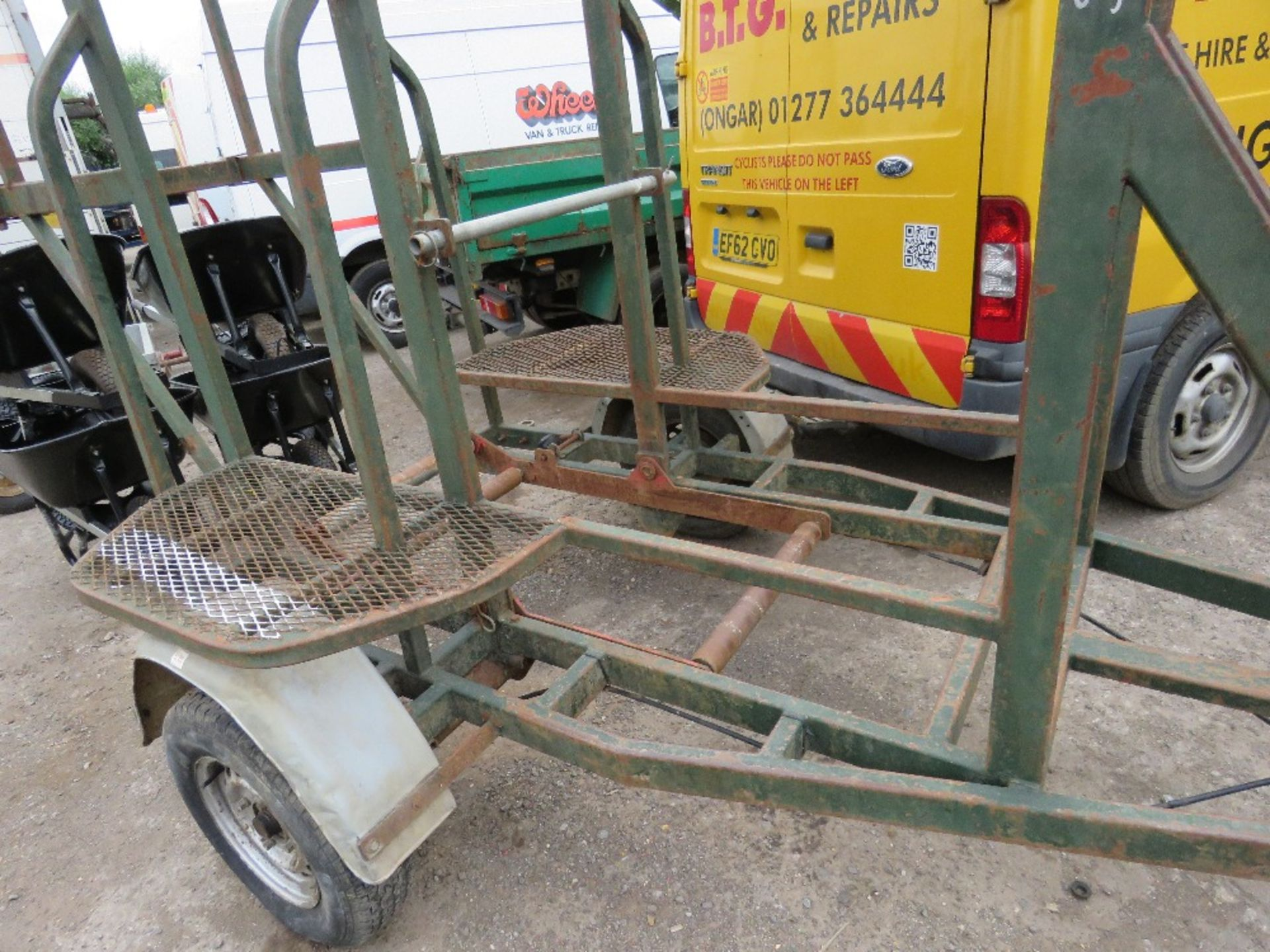 Lot 59 - HITCH AND LIFT SINGLE AXLED COILED PIPE TRAILER